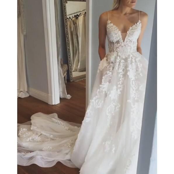 Sexy Bohemia Wedding Dresses with Pockets