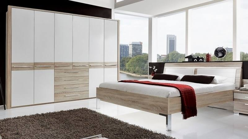 Essien MDF / HDF Bedroom Set (Queen Size Bed + Bedside Table + Wardrobe) | Furnish