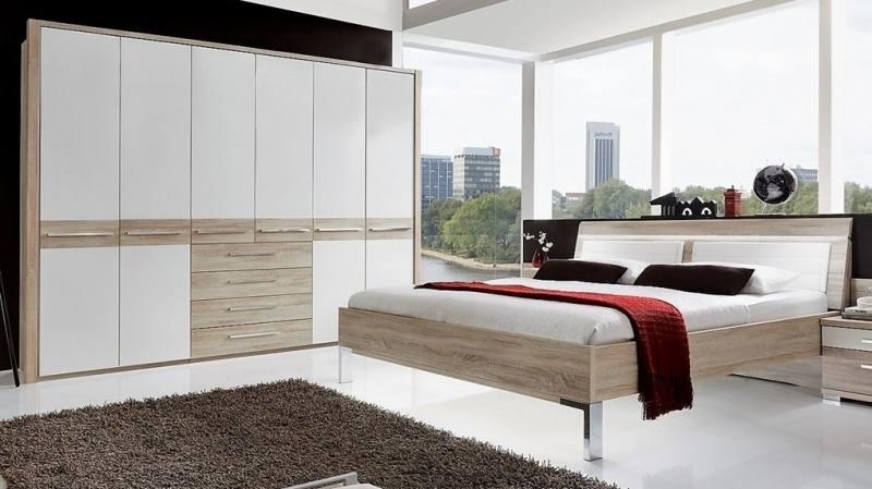 Essien MDF / HDF Bedroom Set (Queen Size Bed + Bedside Table + Wardrobe) | Furnish