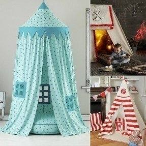 ivivian Mosquito Net Canopy, Dome Princess Bed Canopy Bedcover Curtain Tent  Children's Room Decorate for Baby Kids Indoor Outdoor Playing Reading 240cm