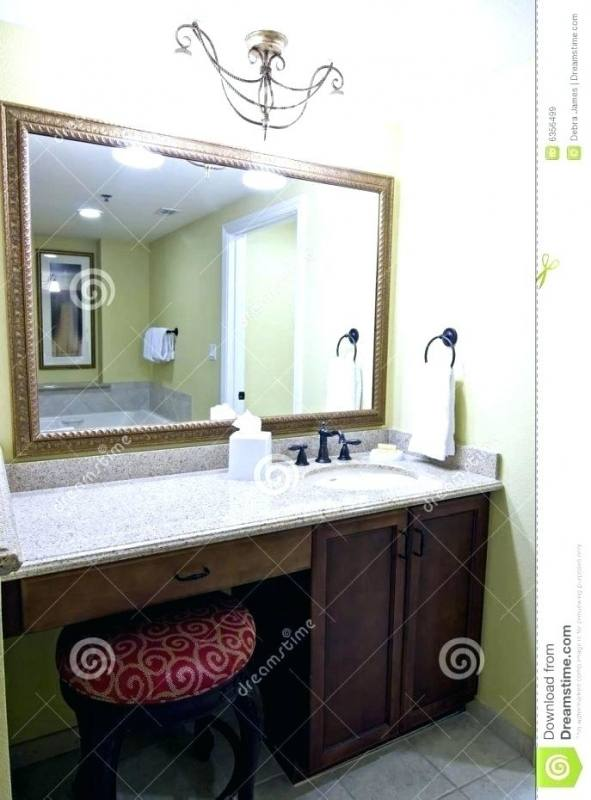 Darker countertop for vanity