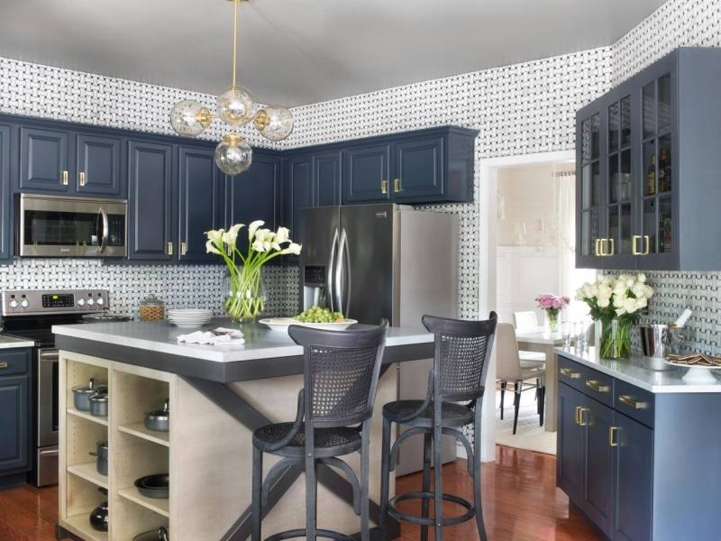 navy blue kitchen island incredible idea navy blue kitchen ideas favorable idea navy blue incredible idea