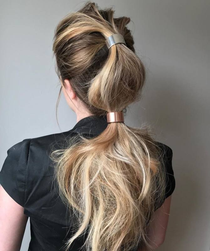 Pull on the completed braid to loosen it and create some volume