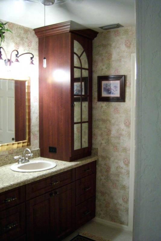 bathroom vanity with tower