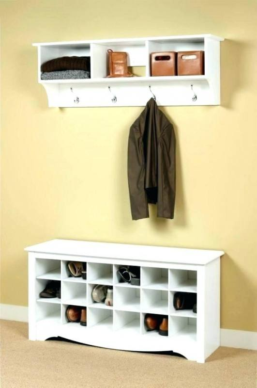 57 Description: I was looking for a compact shelf to store children's shoes in a small c