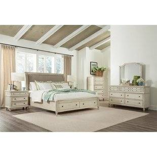 brown wooden full size bed frame with storage in a queen size