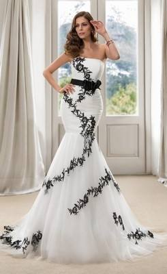 Online Buy Wholesale red black wedding dress from China red black