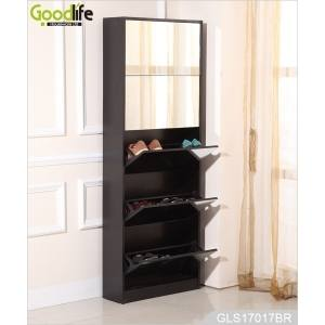 wood shoe storage cabinets wooden shoe storage cabinet with mirror in white  pocillo wood shoe storage