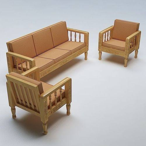 Own Style 3 Seater Wooden Sofa Set Os112a
