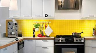 Colorama Yellow Kitchen via Apartmenttheraphy