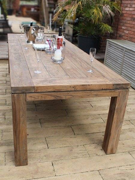 This fabulous York 10 Chair Dining Set comes with a beautiful reclaimed teak table that will last for years