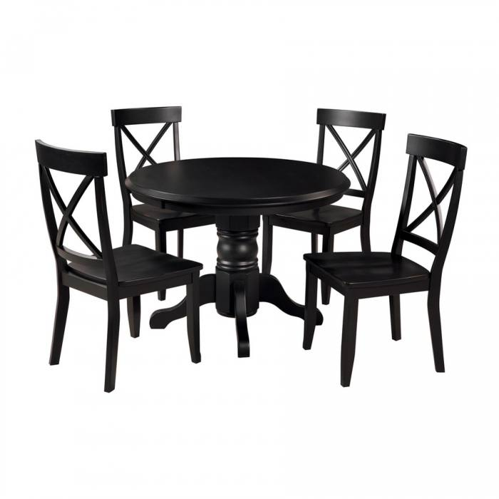 black round dining table round dinner table set round dining table 4 for  sale black dining