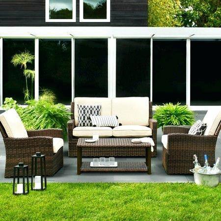 target outdoor furniture clearance palm harbor 5 piece wicker patio dining furniture  set target in outdoor