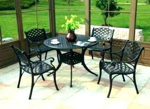 White Cast Metal Patio Furniture