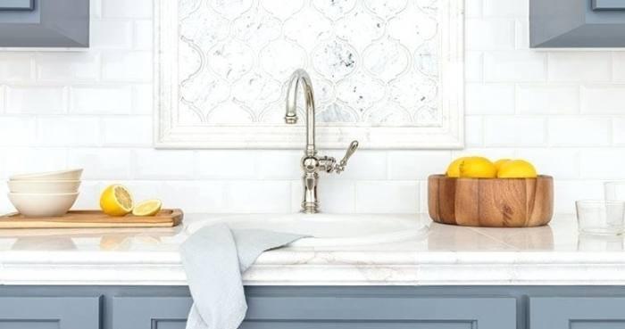 Matchstick tile kitchen backsplash