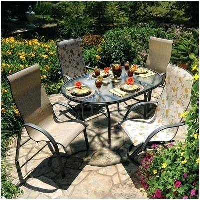 Homecrest Patio Dining Table and Six Chairs