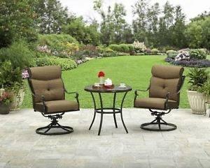 com : Patio Outdoor Santa Clara Swivel Rocker Dining Chairs Set of 4  Solid Cast Aluminum Furniture Dark Bronze : Garden & Outdoor