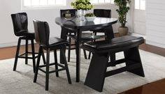 Noah 6 pc  counter height dining room set furniture in cypress tx noah chocolate 4pc