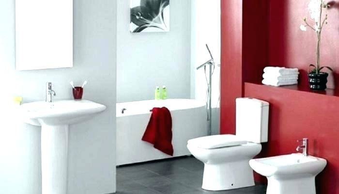 Various Red Bathroom Ideas Of Color Ideas