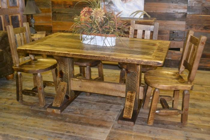 fashionable barnwood dining room table kitchen rustic