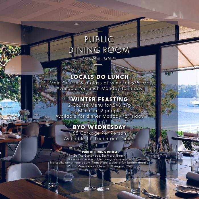Public Dining Room, Balmoral Beach