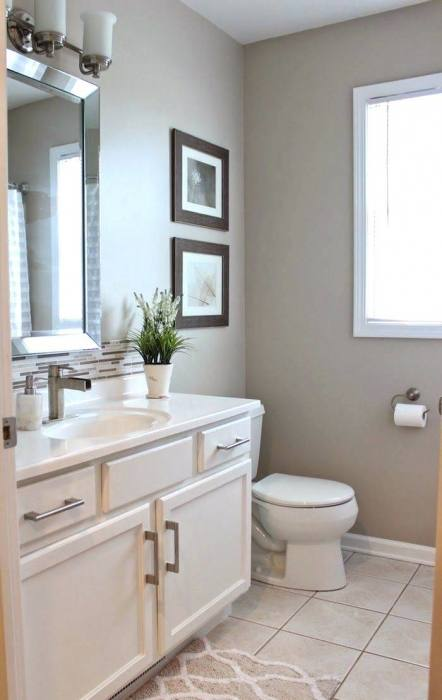 An old fashioned bathroom style colored with brown highlights