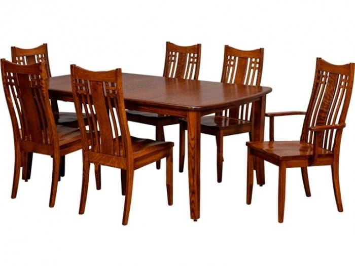 We offer Amish made dining room furniture that is handcrafted in several  local wood shops including Keystone Collections, American Heirlooms,