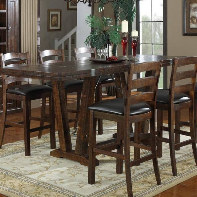 Noah Chocolate 4 Pc Bar Height Dining Room
