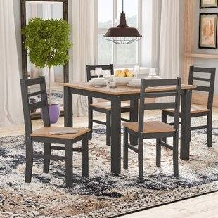 glenwood furniture rectangular dining table and 4 chairs in grey glenwood  bedroom furniture collection