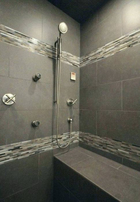 gray shower wall tile tiled shower walls gray shower tile 6 non tile shower  wall ideas