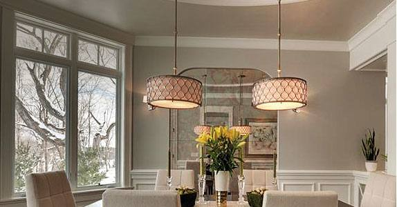 Dining Room Design: Take a look at this dazzling dining room lighting with  an amazing dining room decor | Paint | Dining room lighting, Kitchen  lighting