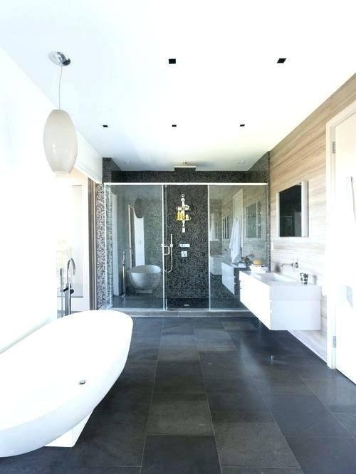 Bathroom Design Grey Slate Floor Tiles Color Shower Walls
