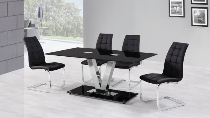 Costway Modern Glass Dining Table