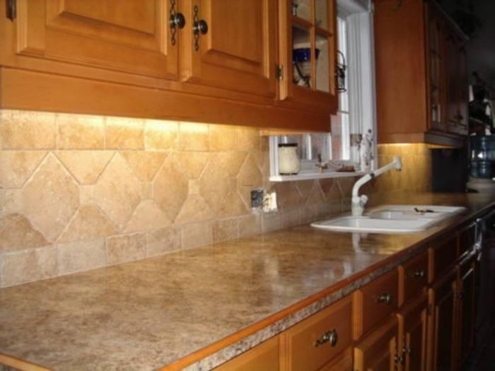 Kitchen : Elegant White Modern Ceramic Kitchen Backsplash Design  Inspiration With L Shape White Painted Wood Kitchen Cabinet And Rectangle  Black Modern