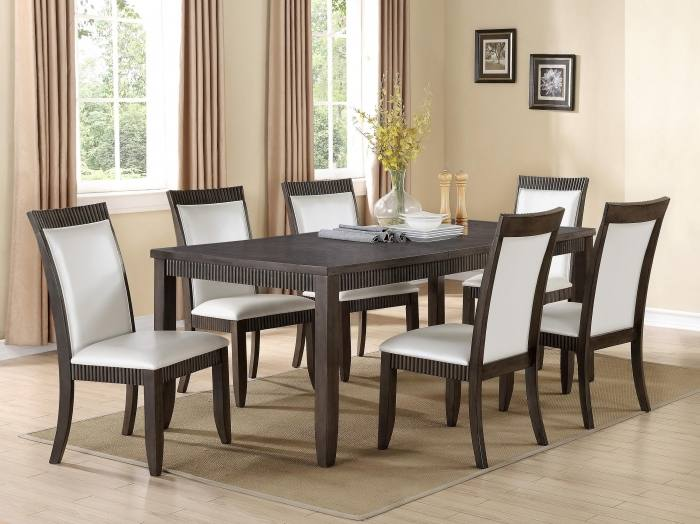 Dovewood Dining Room Furniture, 9 Piece Set (Table, 6 Side Chairs and 2
