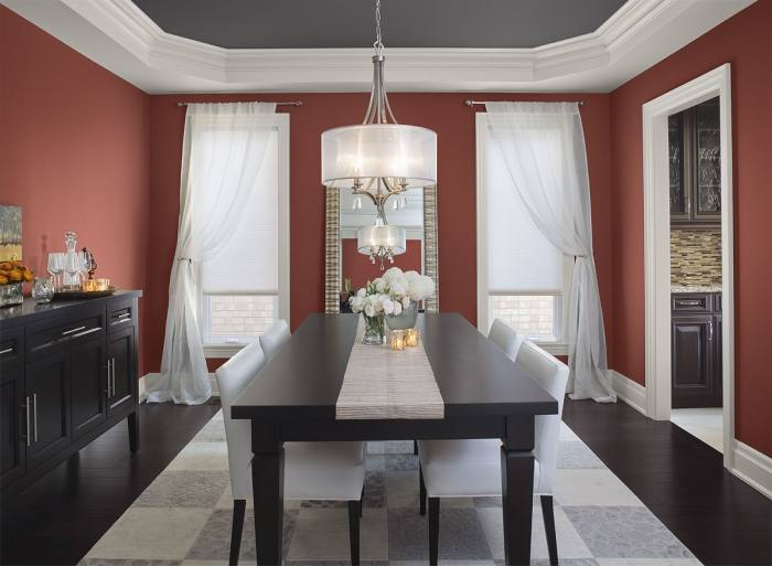 red dining rooms chair rails in dining rooms painting a room with a chair  rail painting