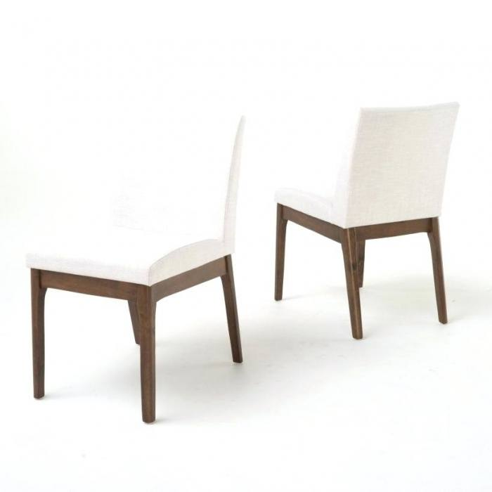 Best Choice Products Set of 2 Upholstered Fabric High Back Parsons Accent Dining  Chairs for Dining Room, Kitchen w/ Wood Legs, High Density Foam Padding,
