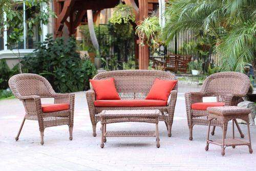 wicker accent table island outdoor