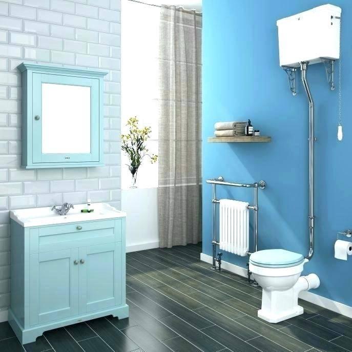 teal and grey bathroom