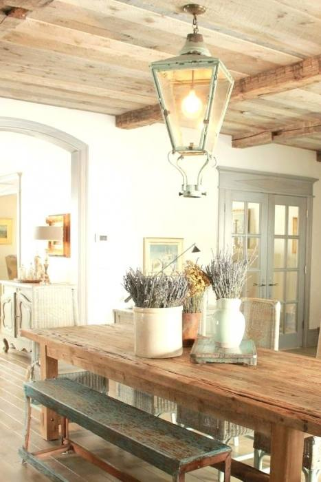 Find out how to achieve a simple French Country dining room look