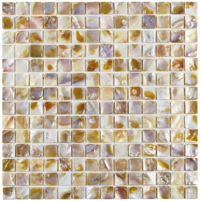 Merola Tile Conchella Subway Perla In X Mm Seashell Mosaic Art Natural  Gitcsp: Full