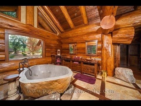 log cabin bathrooms designs