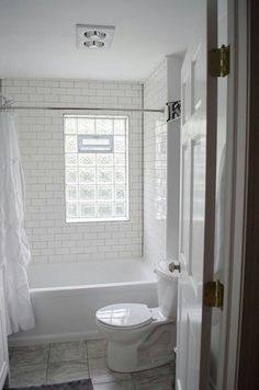 glass block windows in bathroom