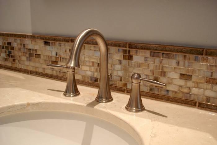 Stunning Bathroom Backsplash Ideas | Bathroom Remodel Like the tile above  the wainscoting