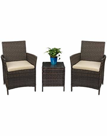 com: 3 Piece Bar Height Bistro Table Chair Set Patio Furniture  Outdoor New Deck Backyard: Garden & Outdoor