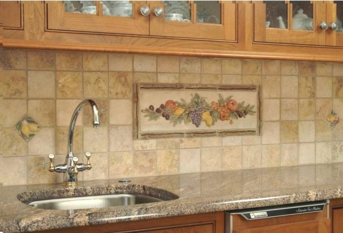 travertine backsplash ideas tile kitchen images
