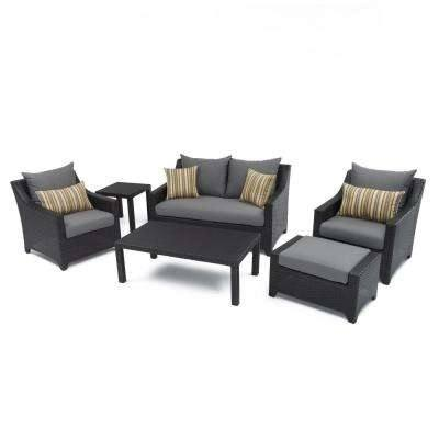 Wicker Patio Furniture Conversation Set Sawyer Pc Resin · •