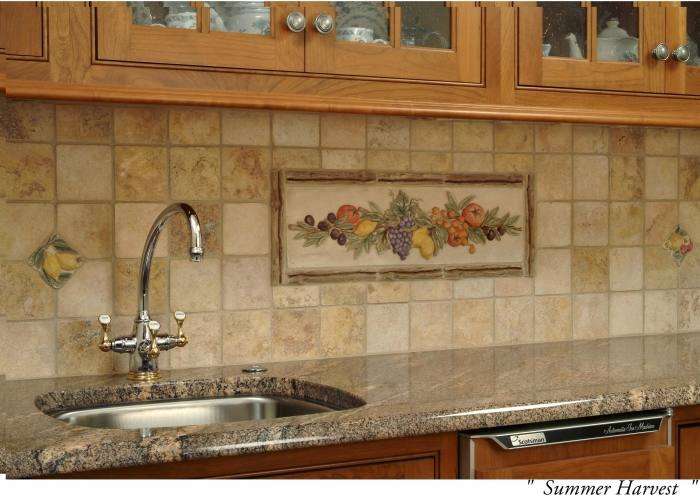 The patchwork kitchen backsplash tile designs works only when the kitchen  cabinets are even in plain color