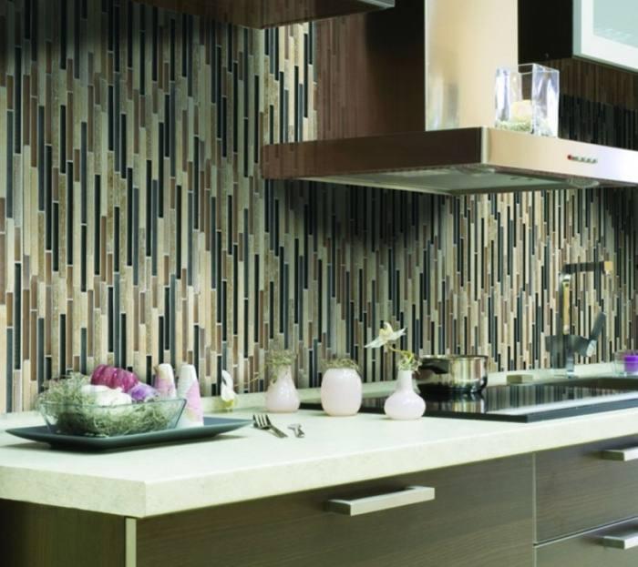 vertical subway tile kitchen backsplash
