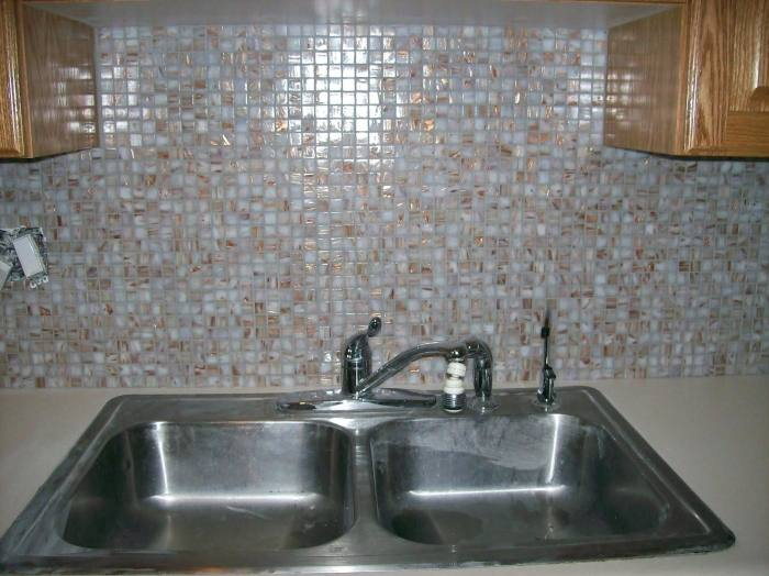 Stainless steel can be used as countertop and backsplash material